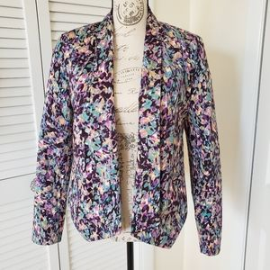 Mossimo Multicolored/Purple Blazer Size M